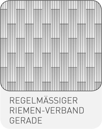 Strip-Optik Regemlässiger Riemen-Verband Diagonal