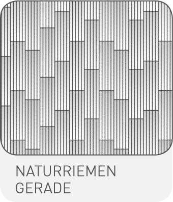 Strip-Optik Naturriemen Gerade
